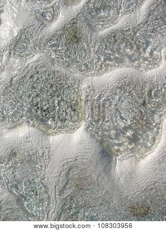Texture Of Water On The Limestone - Pamukkale