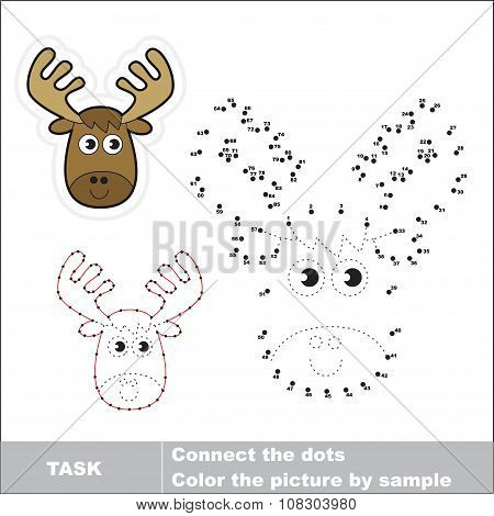 Vector numbers game. Elk to be traced.