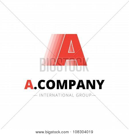 Vector creative abstract A letter minimalistic dynamic logo