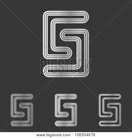 Silver line s logo design set