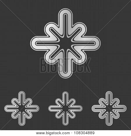 Silver line technology logo design set