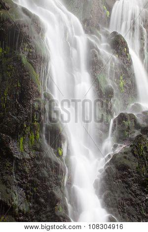 Achada Waterfall In Achada, Sao Miguel