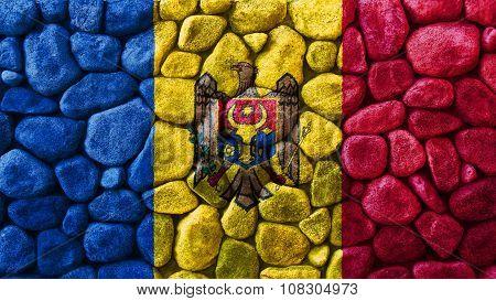 Flag of Moldova, Moldovan Flags painted on stones