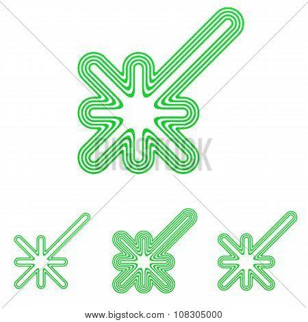 Green line discovery logo design set