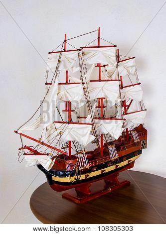 Antique Model Sailing Ship
