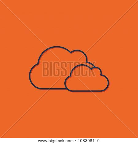 Vector clouds icon