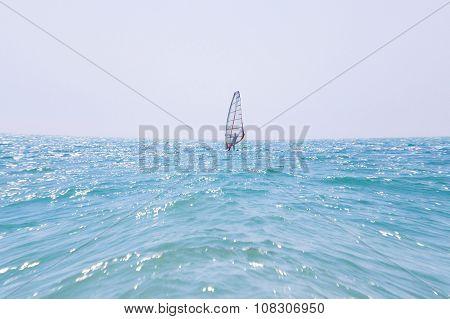 Windsurfing, fun in the sea, extreme sport