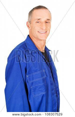 Portrait of a smiling confident repairman.