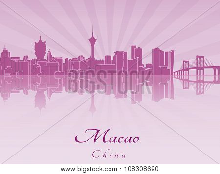 Macao Skyline In Purple Radiant Orchid
