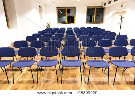 Empty Press Room, Conference Room Or Conference Hall