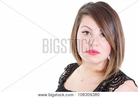 Attractive Young Woman Staring At The Camera