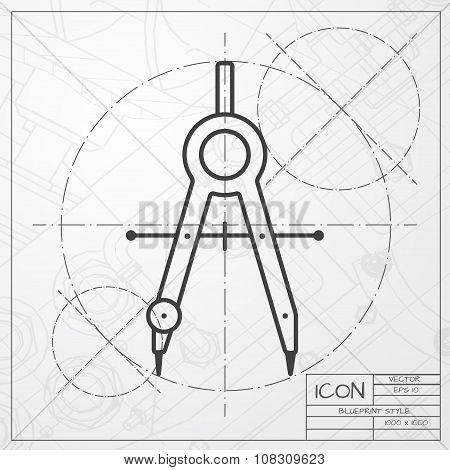 Vector compasses icon