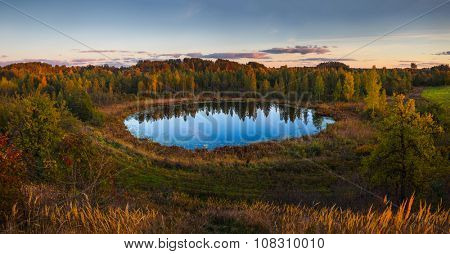 Evening in Braslau lakes national park, Belarus