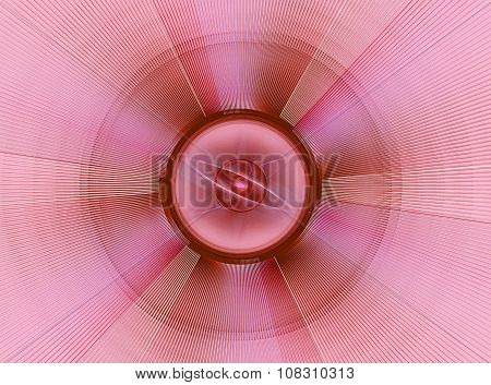 Pink abstract fractal shape