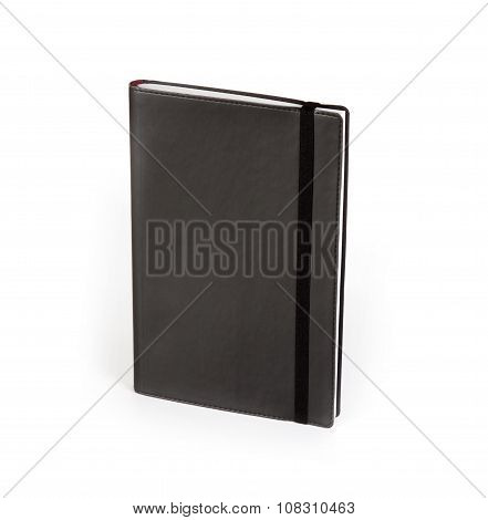 Black Copybook Moleskin Cover With Elastic Band.