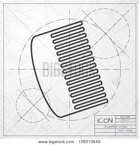 Vector hairbrush icon