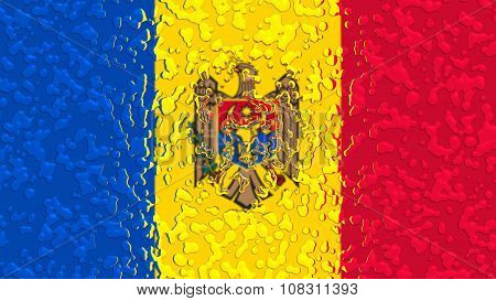 Flag of Moldova, Moldovan Flags with water drops
