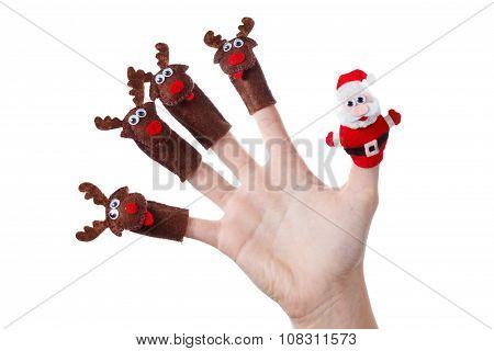 Santa Claus Deer Toy Christmas Decoration.humorous Concept