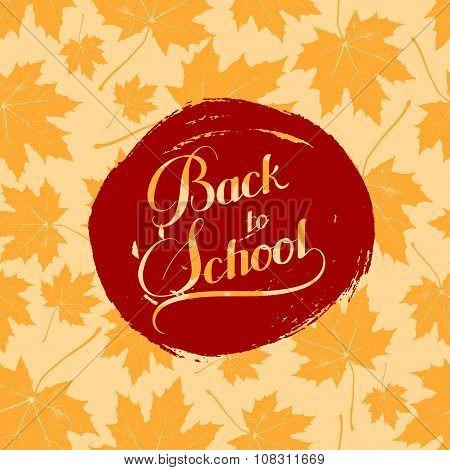 education  illustration of Back To School retro label