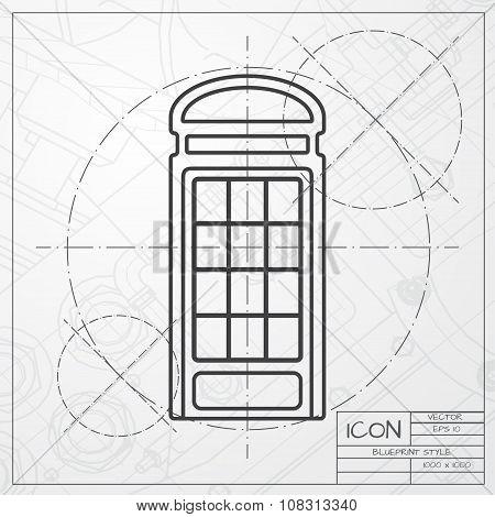 Vector telephone box icon