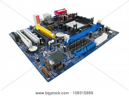 Motherboard Isolated on white background