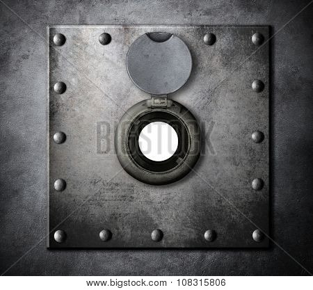 peephole or peep hole in metal armored door