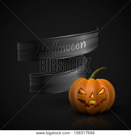 Halloween Pumpkin Jack Lantern.