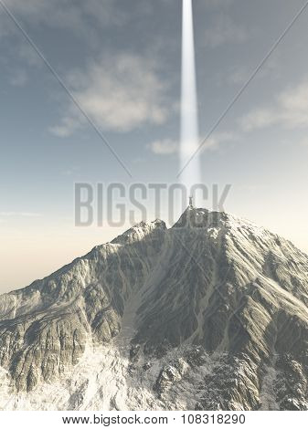 Mystic Ascending from the Mountain Top
