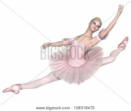 Ballerina in Pink Tutu - Grand Jete