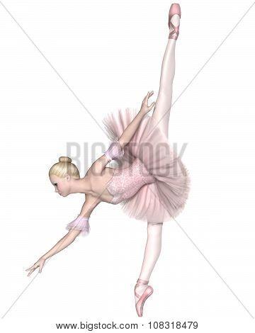Ballerina in Pink Tutu - Arabesque Penche
