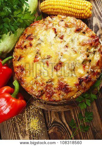 Casserole Of Polenta, Zucchini And Paprika
