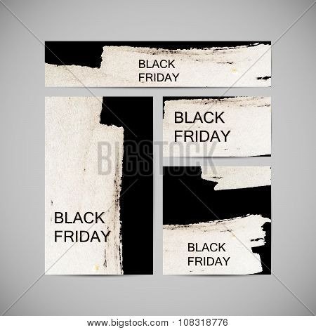 Black Friday Sale label on the watercolor stain