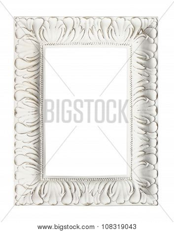 Shabby Chic Vintage Picture Frame, Isolated.
