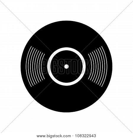 Retro vinyl record icon