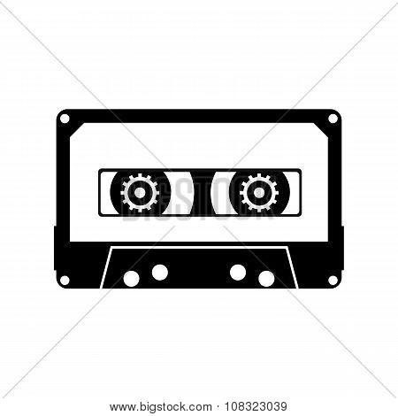 Cassette black icon