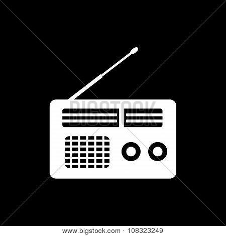 The receiver icon. Radio symbol. Flat