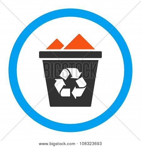Full Recycle Bin Rounded Glyph Icon