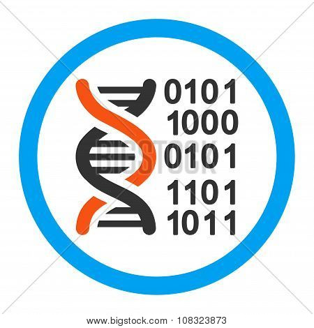 Genome Code Rounded Glyph Icon