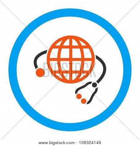Global Medicine Rounded Glyph Icon