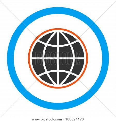 Globe Rounded Glyph Icon