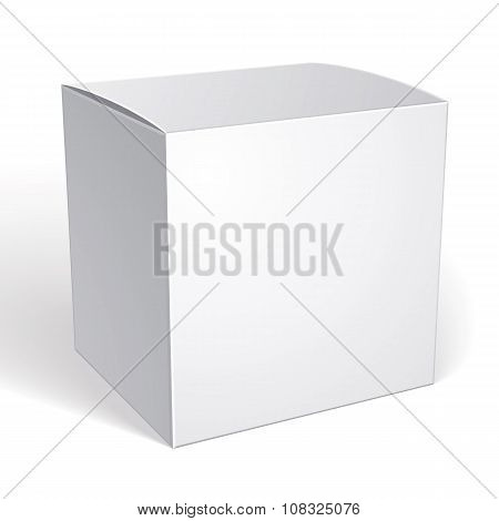 Vector Blank Box Isolated On White Background, Template For Your Package Design, Put Your Image Over