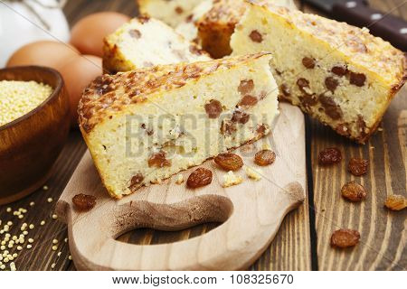 Casserole With Millet And Raisin