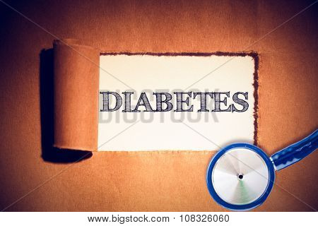 diabetes against directly above shot of torn brown paper