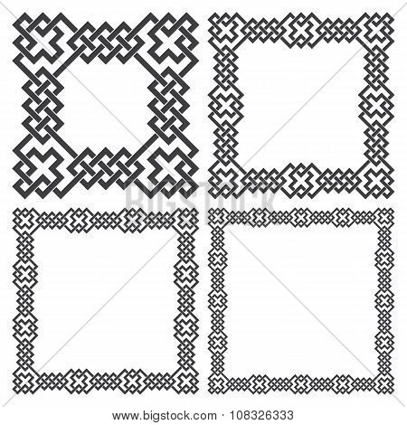Set of square frames rectangular patterns