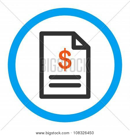 Invoice Rounded Glyph Icon