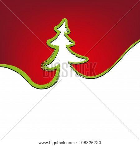 christmas background christmas-tree strokes symbol drawn vector illustration