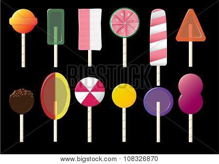 Candy lolly pops