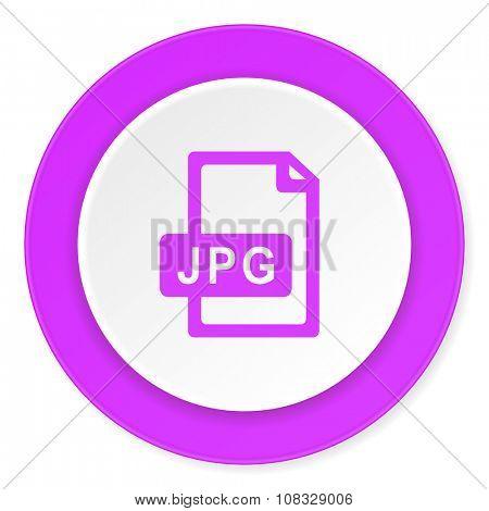 jpg file violet pink circle 3d modern flat design icon on white background