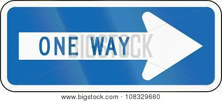 New Zealand Road Sign Rg-14 - One-way Street
