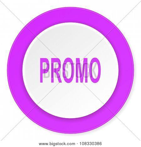 promo violet pink circle 3d modern flat design icon on white background